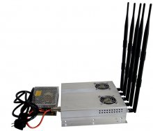 5 Antenna 25W High Power 3G Cell phone Jammer with Outer Detacha