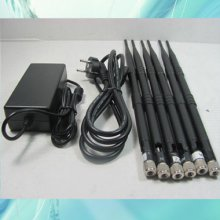 High Power 6 Antenna WIFI, VHF, UHF and 3G Cell Phone Jammer