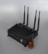 Adjustable 4 Band Desktop Mobile Phone Jammer with Remote Contro